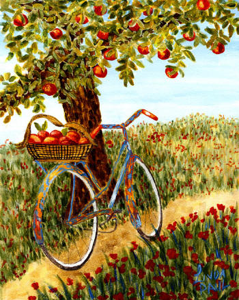 Apples and bicycles are two simple ways to control cholesterol.