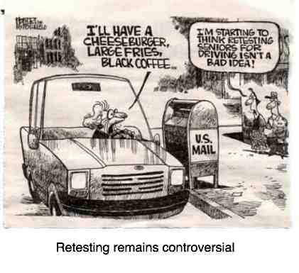 How does Alzheimer's disease affect driving as in this cartoon and how much does it contribute to whiplash?