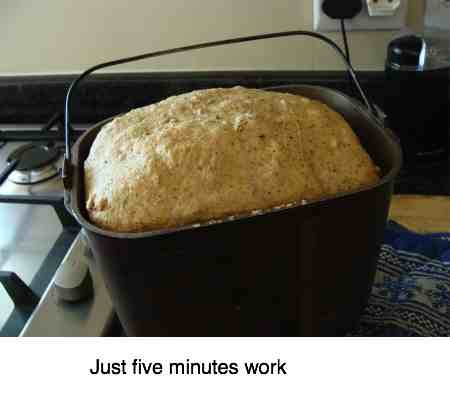 Home bake is so much easier with a bread machine.