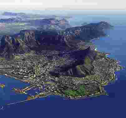 The beautiful city of Cape town.