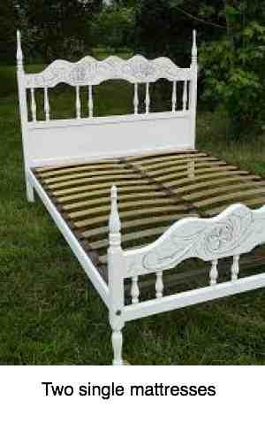 Double base set bed