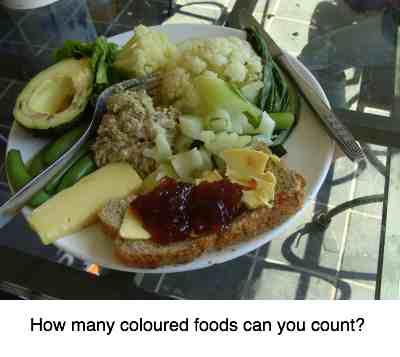 Five colours salad