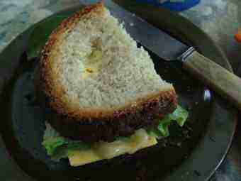 Honey and cheese sandwich with a slice of cheese for more of the nutrients needed to prevent infertility.