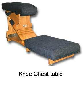 Knee chest table