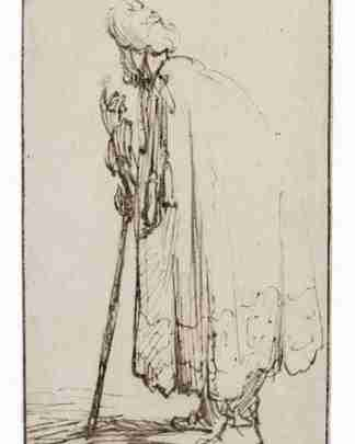 Van Gogh sketch showing a man who clearly has lumbar stenosis.