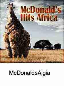 A McDonald's giraffe with foot pain.