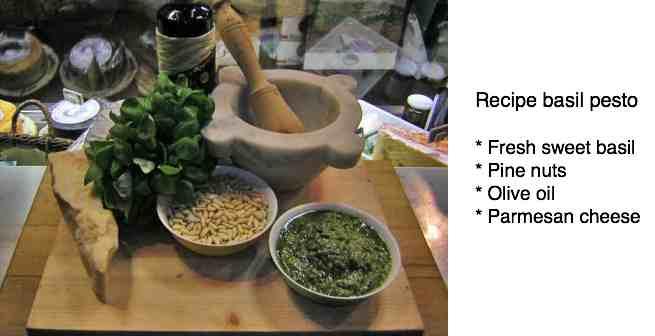 Recipe basil pesto
