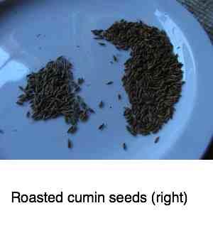 Roast cumin seeds and sesame too.