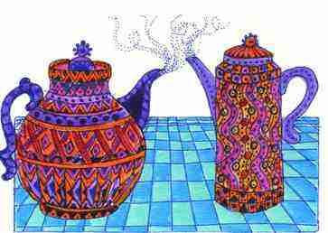 Teapot coffeepot Lorraine Harrison.