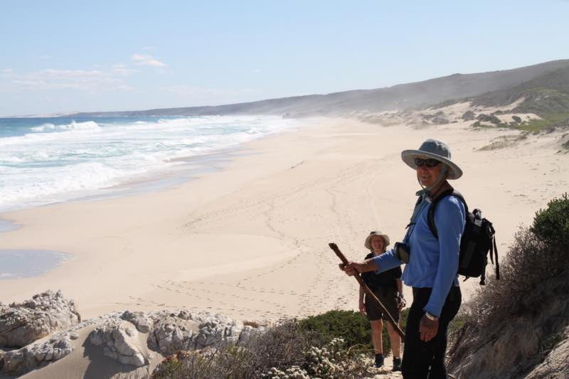 Walking benefits along the Whale trail in South Africa.