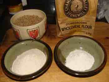 Whole wheat vs whole grain flour.