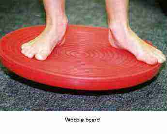 A wobble board.