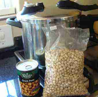 Chickpeas dried and canned