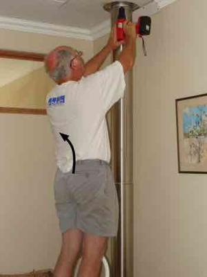 Always have someone hold the ladder.