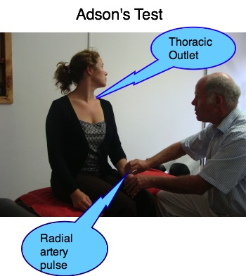 Adson's test for Thoracic Outlet syndrome