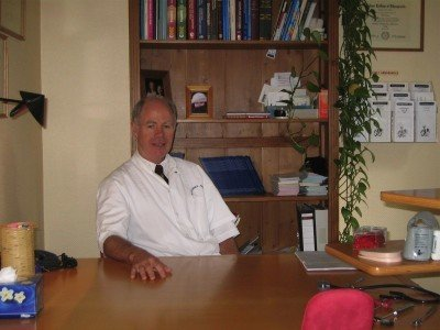 Dr B. Lewis at the chiropractic coalface.