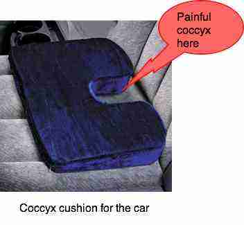 Coccyx Pillow Takes The Pressure Off The Subluxated Or
