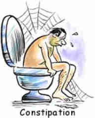 Contipation man on loo is also a cause of headaches