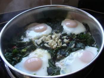 Cooked eggs valentine
