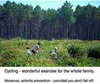 Cycling for the whole family is a number one healthy living tip.