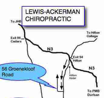 A map to find Hilton Chiropractic.