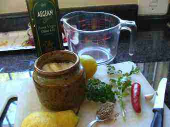 Hummus fresh ingredients