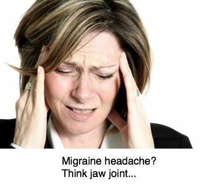 Migraine headache woman