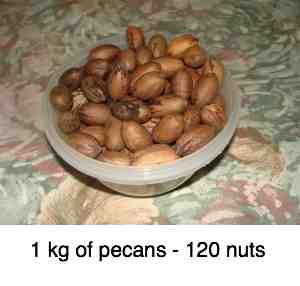 Pecan nut weight