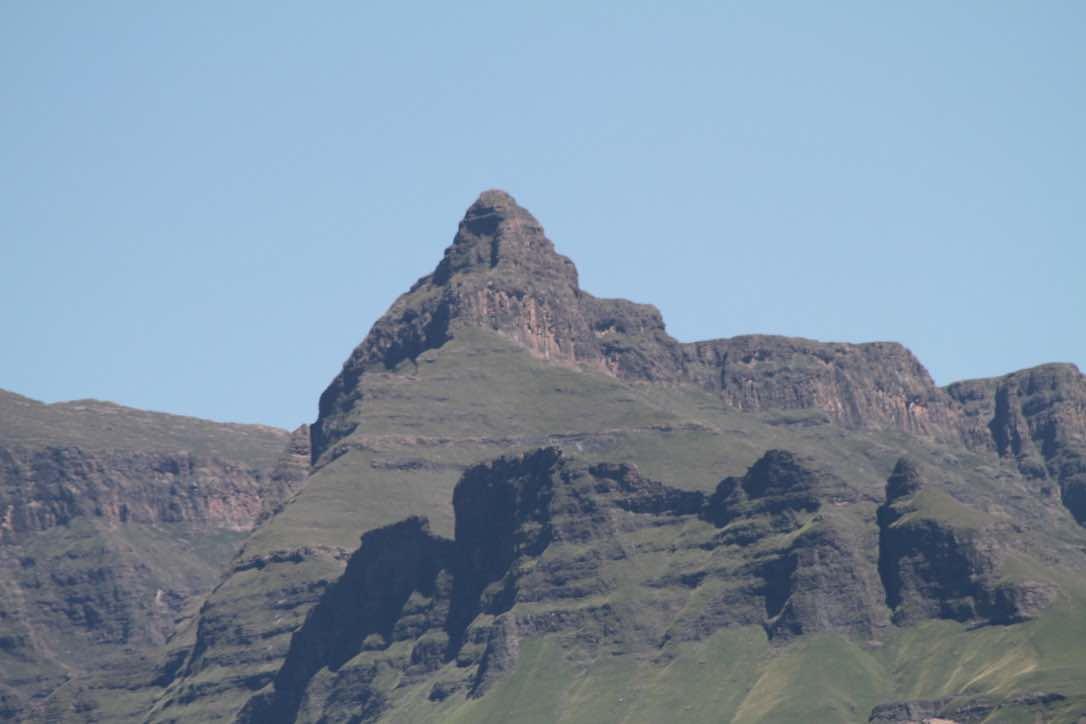 Rhino peak in the Drakensberg is 3500 feet above base camp.