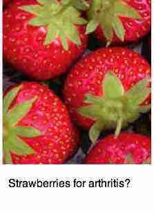 Strawberries for arthritis