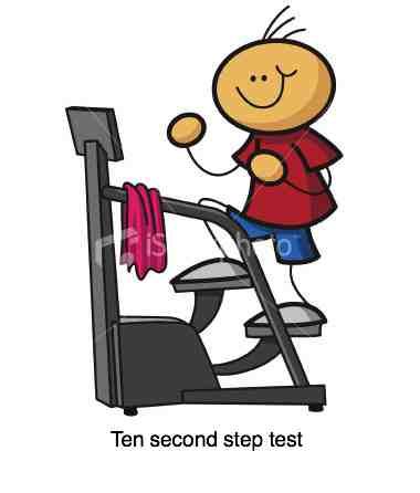 Ten second step test.
