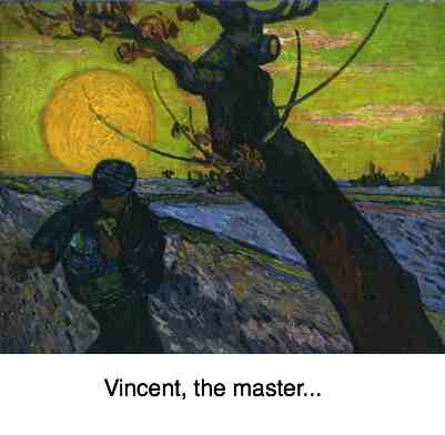 Van Gogh's The Sower would probably have suffered from lower back pain.
