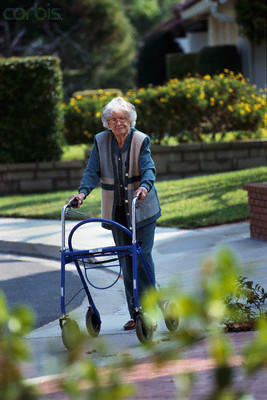 Walker elderly woman