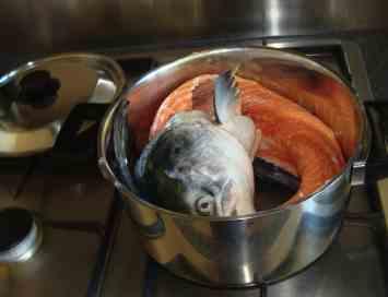 Salmon makes a wonderful fish bouillon.